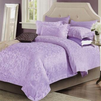 Harga Sleep Buddy Set Sprei dan Bed Cover Classic Purple Sutra Tencel