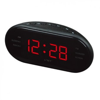Harga LED Luminous Radio Alarm Clock Multi-radio AM and FM Dual-channelGift - intl