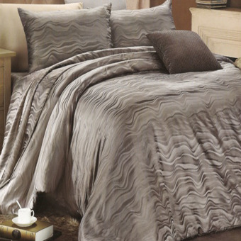 Harga Sleep Buddy Bed Cover Oceanic Dark Grey Sutra Tencel