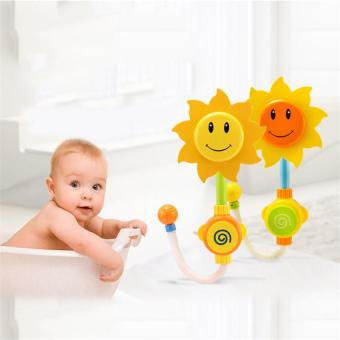Harga Kids Children Baby Bath toy Sunflower Shower Faucet Bath Play Bathing Toys - intl