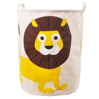 Harga High Quality Store New Cute Animal Cotton Linen Washing Clothes Laundry Basket Bag Hamper Storage