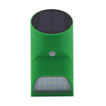 Harga Leegoal Sense Night Light Bamboo Style Solar Powered Human Infrared Motion Sensor Lights Outdoor Wall Lamp,18LED,Green - intl
