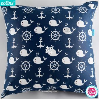 Eolins Sarung Bantal Sofa Sailor Whale JSPS091 Biru
