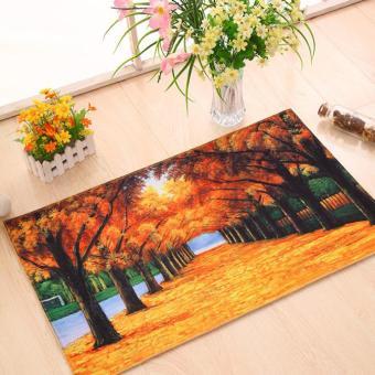 Harga Coconie Antiskid Floor Decal Cartoon Ground Mat Removable Waterproof Home Decor Orange