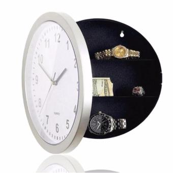 Safe Clock Brankas Jam Dinding Hidden Secret Wall Clock Safe Container Box for Money Stash Jewelry Storage