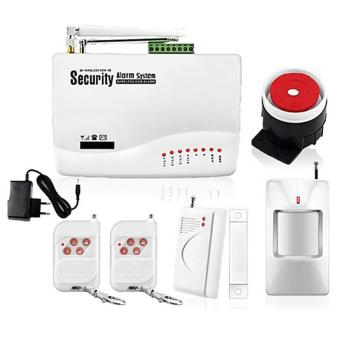 Harga GSM Dual Antenna Home Security Wireless Signal Alarm Systems - intl