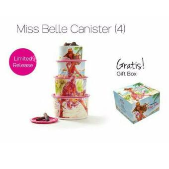 Harga Tupperware Miss Belle Canister - 4 pcs