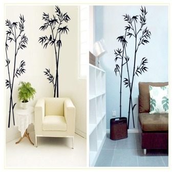 Harga Bamboo Decor Wall Stickers (Black)