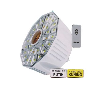 Harga Surya Lampu Emergency 32 SMD LED FITTING E-27 dilengkapi Remote Control SRE L3208 RC
