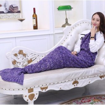 Harga Crochet Mermaid Tail Blanket Teen Adult Size Premium High Quality Handmade - intl
