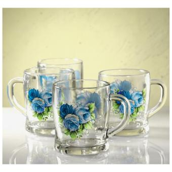 Harga Briliant Glass Mug Set GM0734 - Miranda Blue