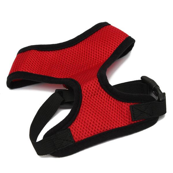 ... Inggris yang dapat menghubungkan anak anjing rompi Harness kainpakaian hewan peliharaan 4warnd 4 ukuran merah L ...