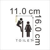 ... Gemerincing Gaya Vinil Toilet Dapat Dilepas Mengutip Tulisan Wall Sticker (Hitam) - 3 ...