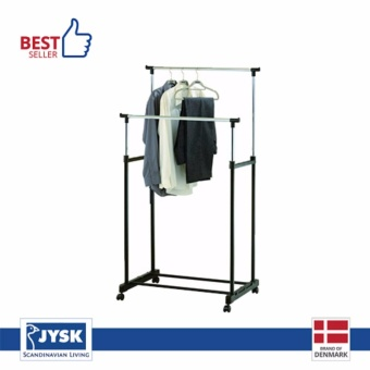 JYSK Rak Gantungan Baju - Clothes Rail Baxter Double With Shelf -Hitam