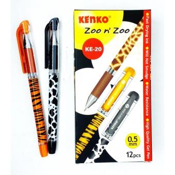 KENKO Gel Pen - KE-20 Zoo n Zoo (1 Lusin)