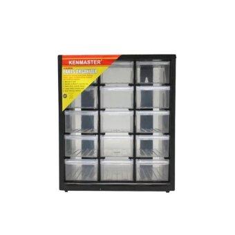 Kenmaster Parts Organizer Kotak Susun 15 Laci