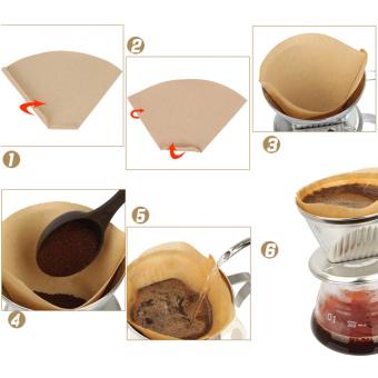 ... Kertas Filter kopi untuk 101 kopi tangan-menuangkan secangkir kopi Drip penyaring kopi 40 buah ...