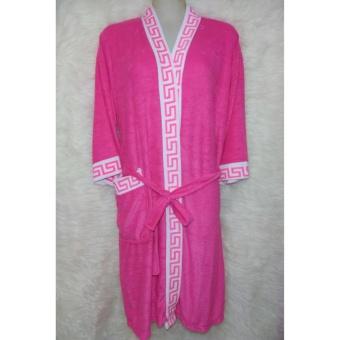 Kimono Handuk Dewasa Warna - Pink