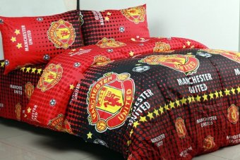 King Sprei Katun Motif MU - Manchester United - Club