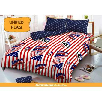 Kintakun Dluxe Sprei Uk.160x200 Motif United Flag