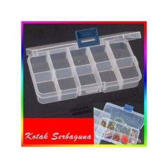 Kotak Penyimpanan Plastik Mini (5*2 Kotak)