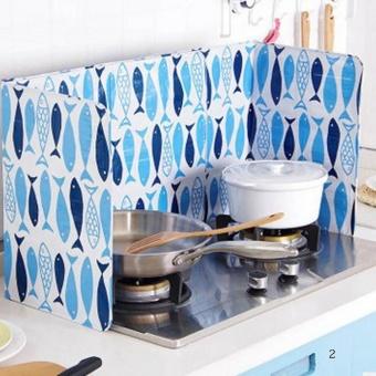 Kuhong Dapur Minyak Aluminium Foil Plate Gas Kompor Percikan Layar Alat Memasak Mengisolasi Splash