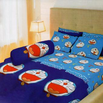 Lady Rose Sprei King Motif Doraemon 180x200 cm