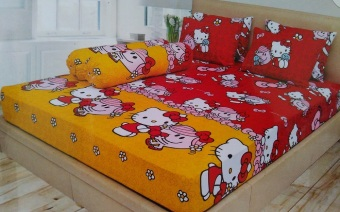 Ladyrose Helo Kitty Red Sprei 180x200x20 - Merah-Kuning