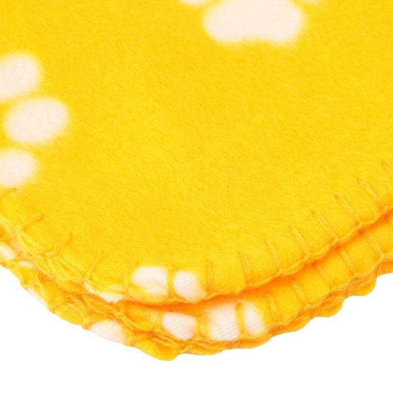 LALANG Lovely Claws Pet Flannel Soft Blankets Dog Cat Mat (Yellow)