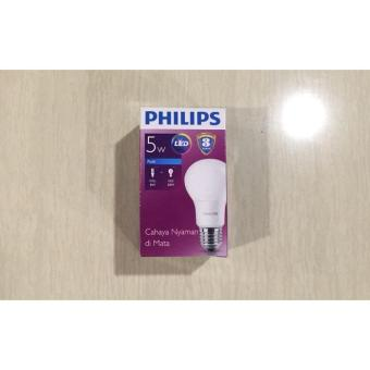 Lampu Bohlam Bulb LED Philips 5W - Cool Day Light Putih - 5 Watt