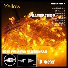 Lampu Hias Natal LED Yellow 10 Meter + Colokan Sambungan