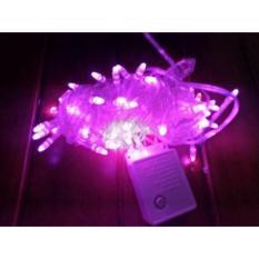lampu hias natal Pink