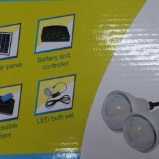 Lanjar Jaya Lampu Tancap 1 LED Tenaga Surya Stainlees Garden Lamp Solar Cell + Buy 1