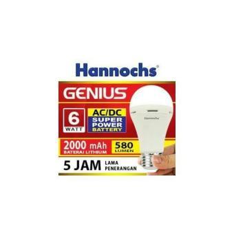 Lampu Led Emergency/Cas/Darurat/Magic 6 Watt Hannoch Genius