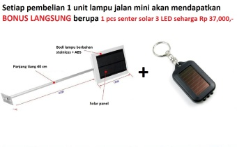 Lampu Penerangan Jalan mini 12 LED Super Bright 120 lumens solar power tenaga surya matahari -