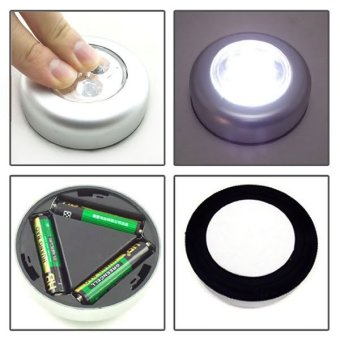 Lampu Tempel LED - Touch Lamp Stick n Click Emergency+Batteries
