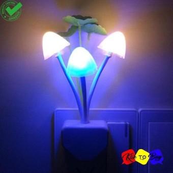 Lampu Tidur Jamur Mini Lampu Hias LED Lamp Otomatis Menyala Penerangan Pencahayaan Hemat Energi Unik Cantik