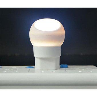 Lampu Tidur LED Sensor Cahaya Rotasi 360 Derajat - White - 3 .