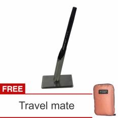 Lanjar jaya Stainless steel Souvenir Pen holder Tempat pulpen minimalis single Travel Mate .
