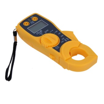LCD Auto Digital Multimeter Electronic Voltage Frequency Temperature Tester (Yellow) - intl