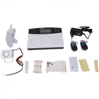 LCD nirkabel GSM SMS anti maling rumah keamanan rumah sistem Alarm kebakaran otomatis panggilan Alarm -