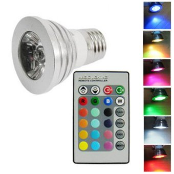 LED Color Changing Light Bulb with Wireless Remote
