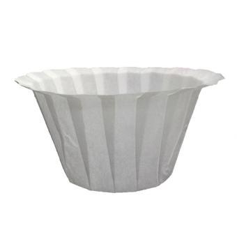 Leegoal 100 buah cangkir kertas sekali pakai filter pengganti K-cangkir penyaring kompatibel dengan Keurig