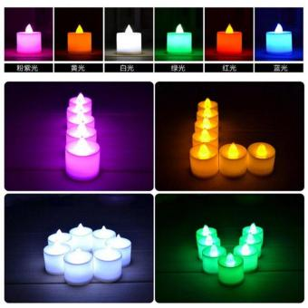 Lilin Elektrik 7 Warna /Colorful LED CANDLE LAMPU MINI (dapat 6pcs)