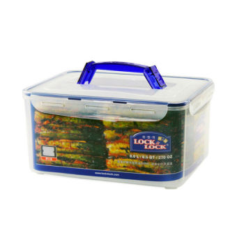 Lock&Lock Food Container Hpl884- Rectangular Tall 8.0L W/Handle(Tray)