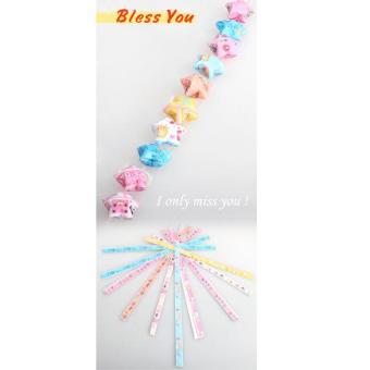 Lucky Star Kit lipat melipat kertas Origami bintang harapan 50 strip kertas · >>>>