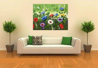 Detail Gambar Lukisanku Lukisan Bunga - D1-16 - Lukisan Tangan dan Variasi Modelnya