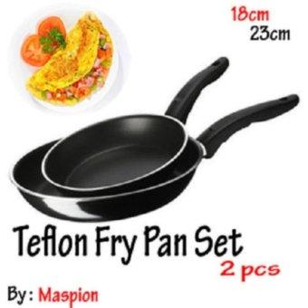 Maspion Wajan Penggorengan Teflon Frypan Set 2 pcs - 18 cm & 23 cm