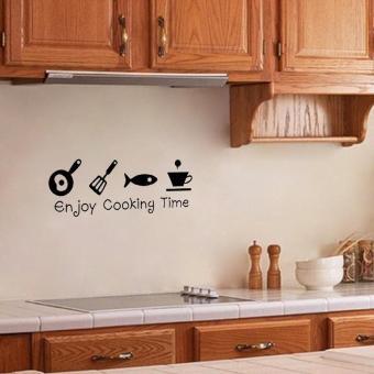 Dapat Dilepas Minyak Bukti Dapur Seni Mural Wall Stiker Vinyl Dan Source · Gambar Produk menikmati