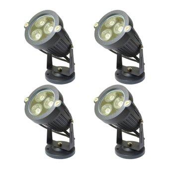 Miyalux Lampu Sorot LED 3watt - Warm white - 4Buah